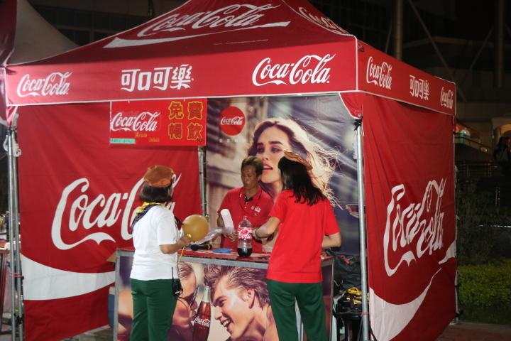 可口可樂贊助商進駐